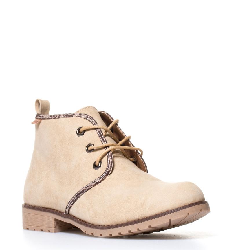 Mustang-Botines-Springboots-beige-camel